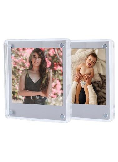 Fujifilm Instax Square Kare Film Uyumlu Mıknatıslı Pleksi Resim Çerçevesi 2 Adet Renkli
